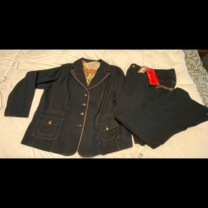 NWT Woman's Tanjay 3 piece denim suit